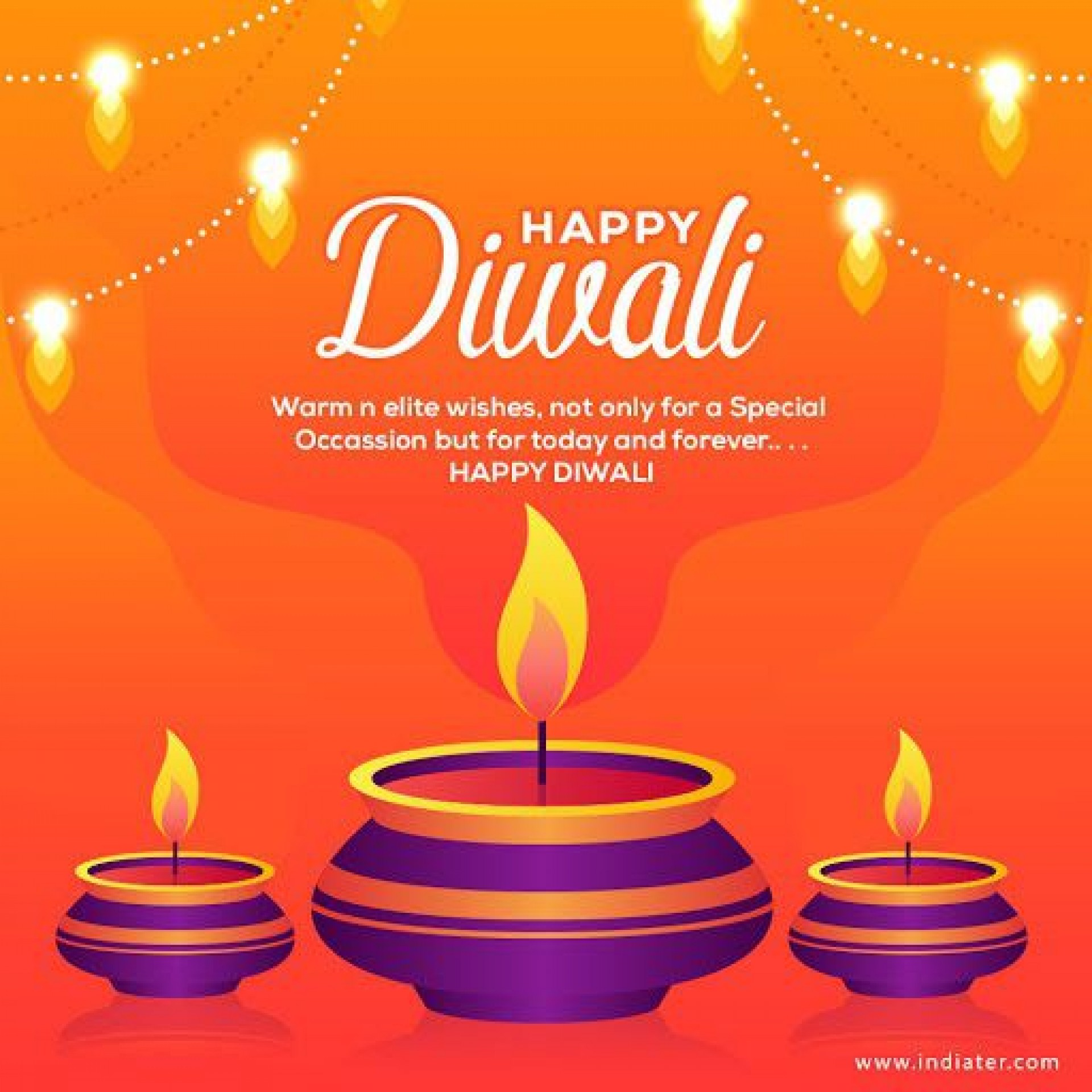 009 Imposing Diwali Party Invite Template Free Image 1920