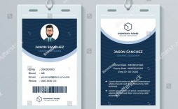 009 Imposing Employee Id Card Template High Definition  Free Download Psd Word