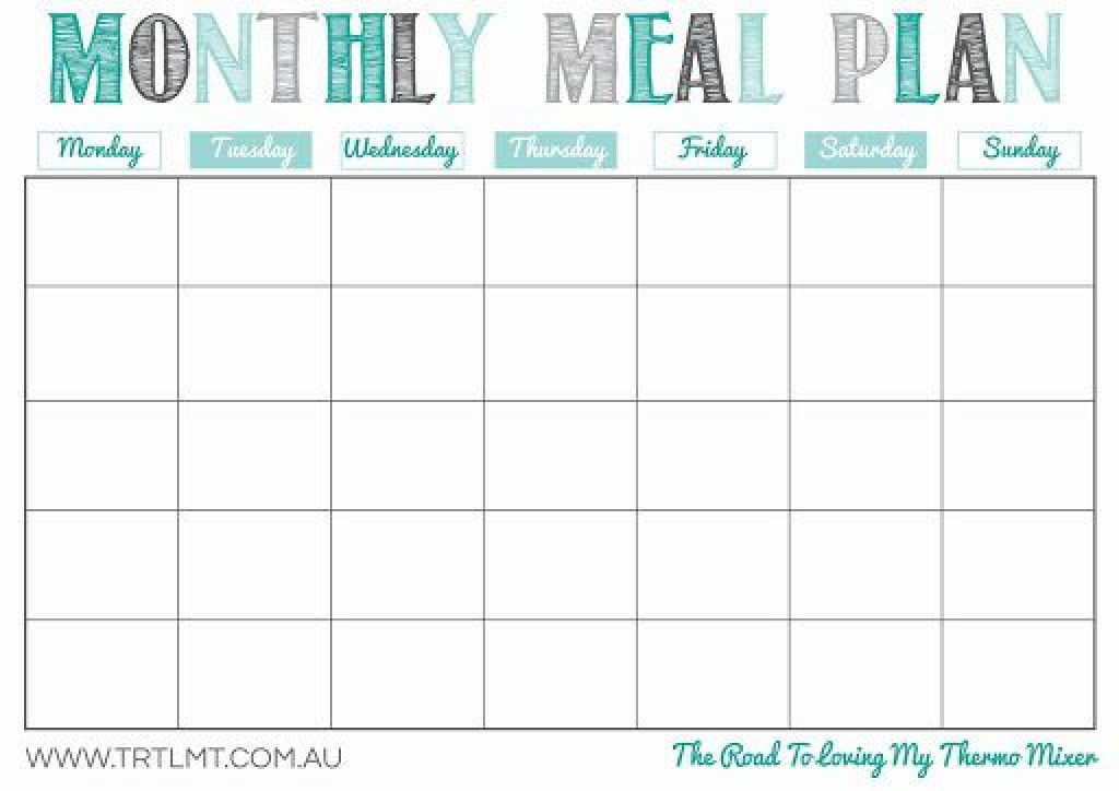 009 Imposing Free Meal Planner Template For Weight Los High Resolution  LossLarge