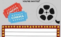 009 Imposing Free Printable Movie Ticket Birthday Party Invitation High Def  Invitations