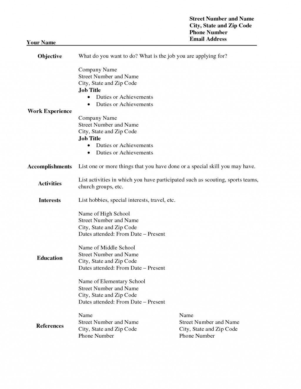 009 Imposing Free Printable Resume Template 2018 Image Full