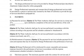 009 Imposing Free Service Contract Template Pdf Idea
