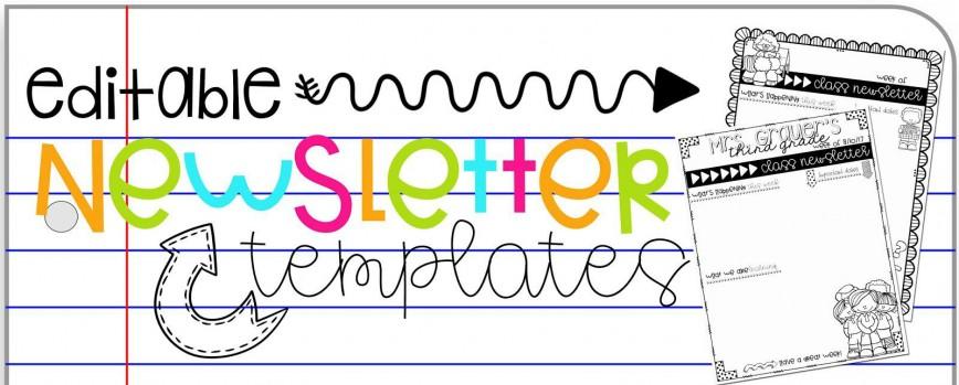 009 Imposing Google Newsletter Template For Teacher Concept  Teachers Free