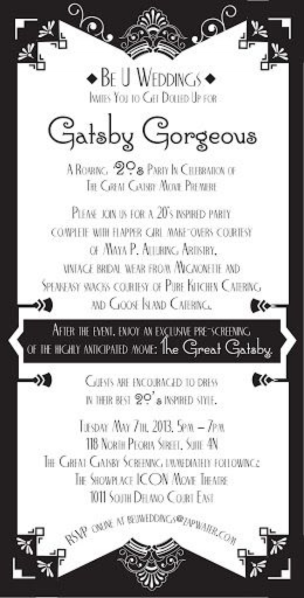 009 Imposing Great Gatsby Invitation Template Idea  Templates Free Download BlankLarge
