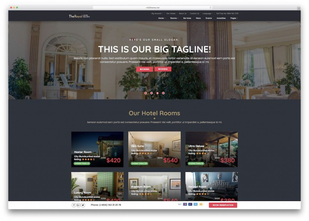 009 Imposing Hotel Website Template Html Free Download Picture  With Cs Responsive Jquery And RestaurantLarge