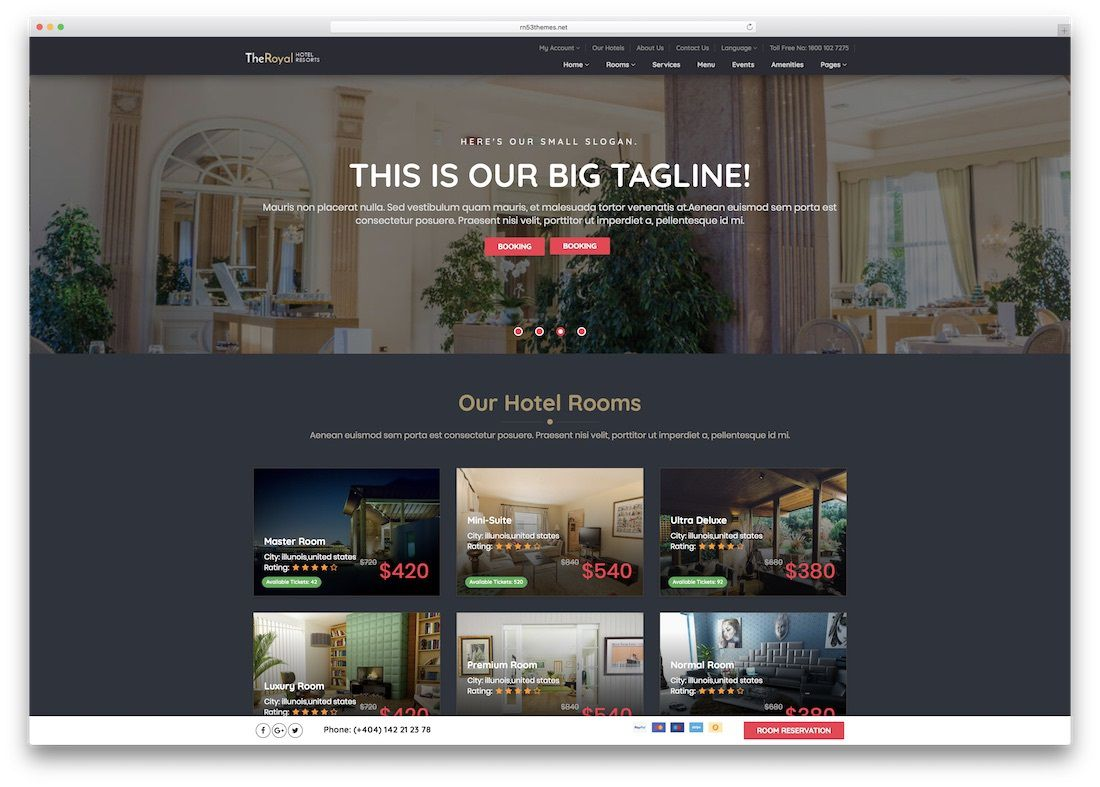 009 Imposing Hotel Website Template Html Free Download Picture  With Cs Responsive Jquery And RestaurantFull