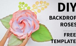 009 Imposing Large Rose Paper Flower Template Free Picture