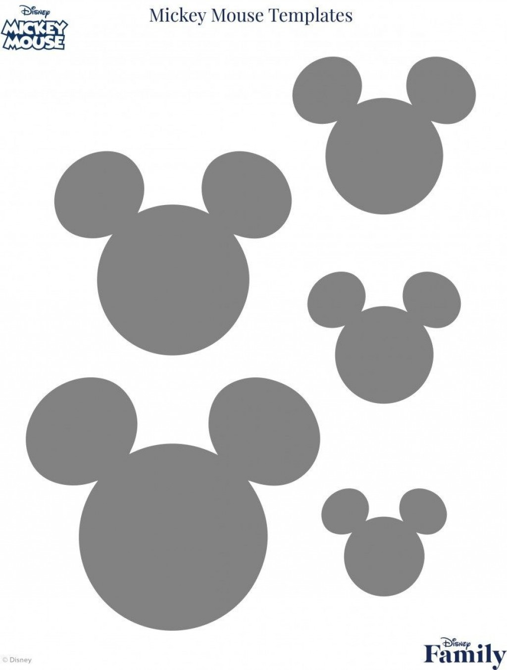 009 Imposing Mickey Mouse Face Cake Template Printable Example Large