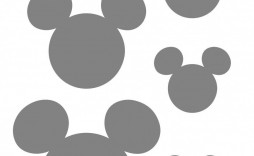 009 Imposing Mickey Mouse Face Cake Template Printable Example