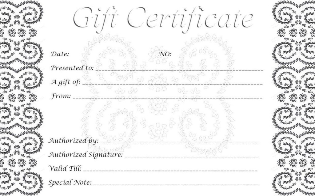 009 Imposing Printable Gift Certificate Template Sample  Card Free Christma MassageLarge
