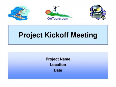 009 Imposing Project Kickoff Meeting Powerpoint Template Ppt Example  Kick Off Presentation480