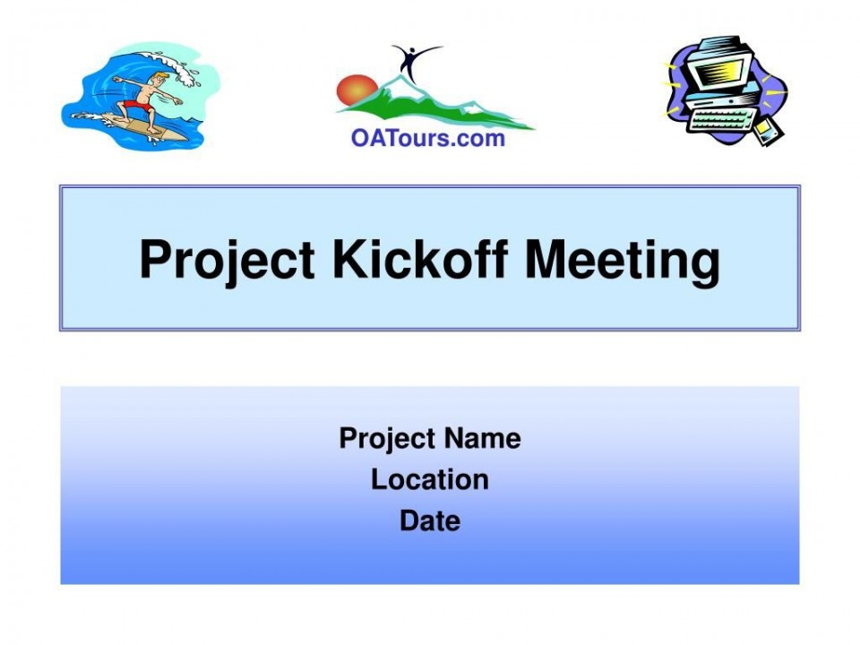 009 Imposing Project Kickoff Meeting Powerpoint Template Ppt Example  Kick Off Presentation960