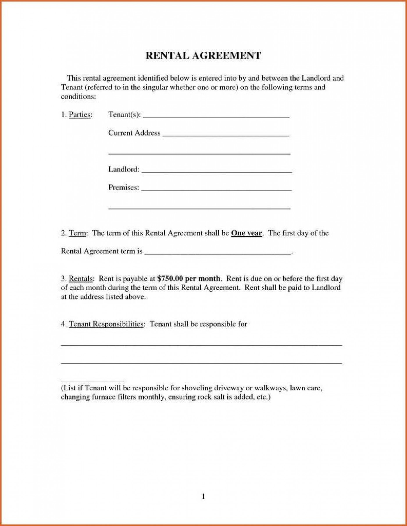 009 Imposing Renter Lease Agreement Form High Definition  Rent Format In Tamil Florida Rental Printable1400