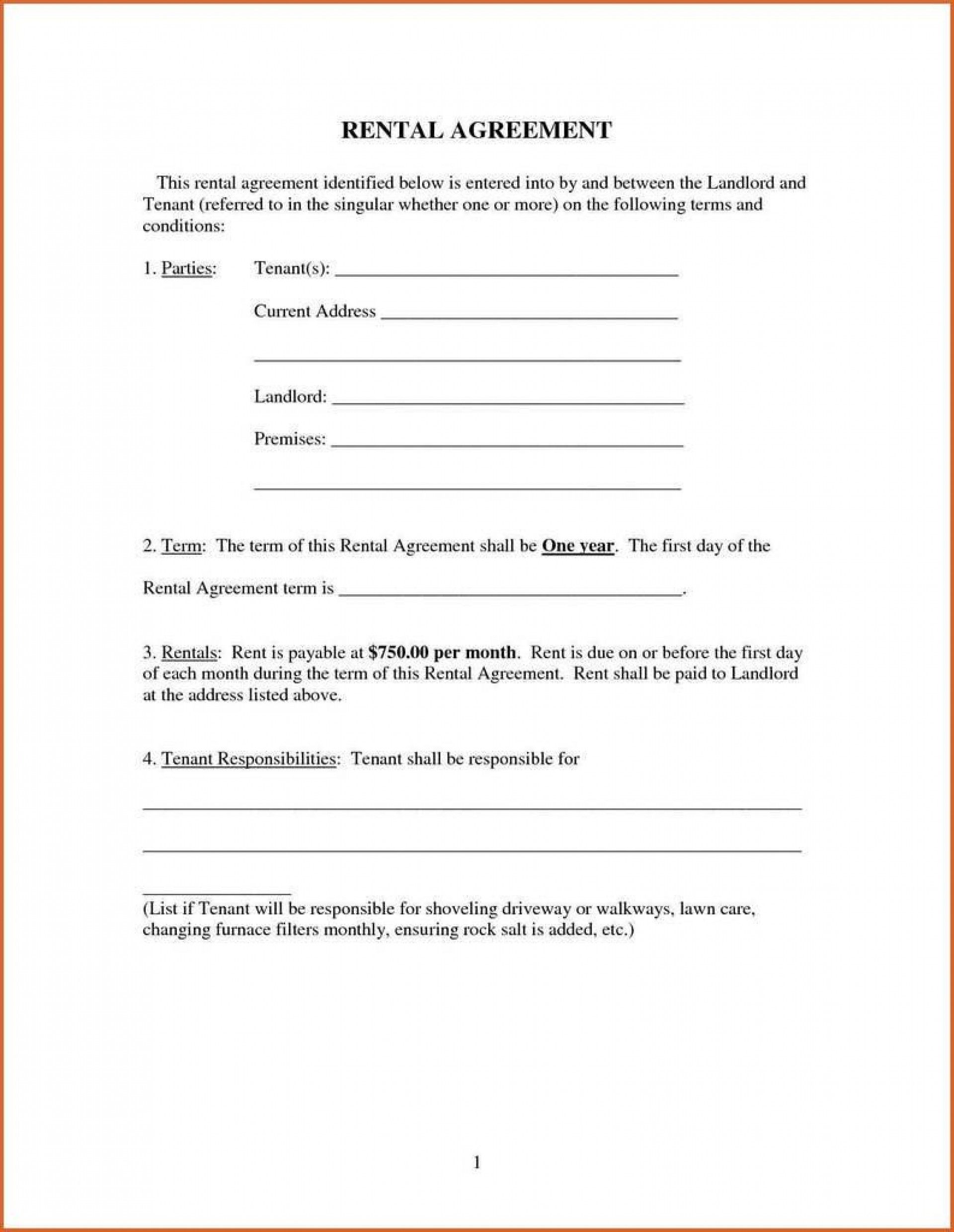 009 Imposing Renter Lease Agreement Form High Definition  Rent Format In Tamil Florida Rental Printable1920