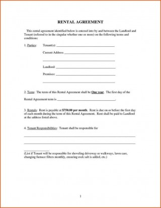 009 Imposing Renter Lease Agreement Form High Definition  Rent Format In Tamil Florida Rental Printable320