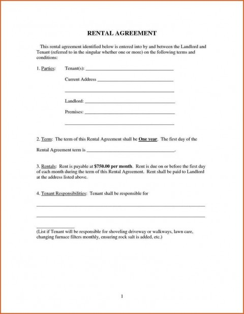 009 Imposing Renter Lease Agreement Form High Definition  Rent Format In Tamil Florida Rental Printable480