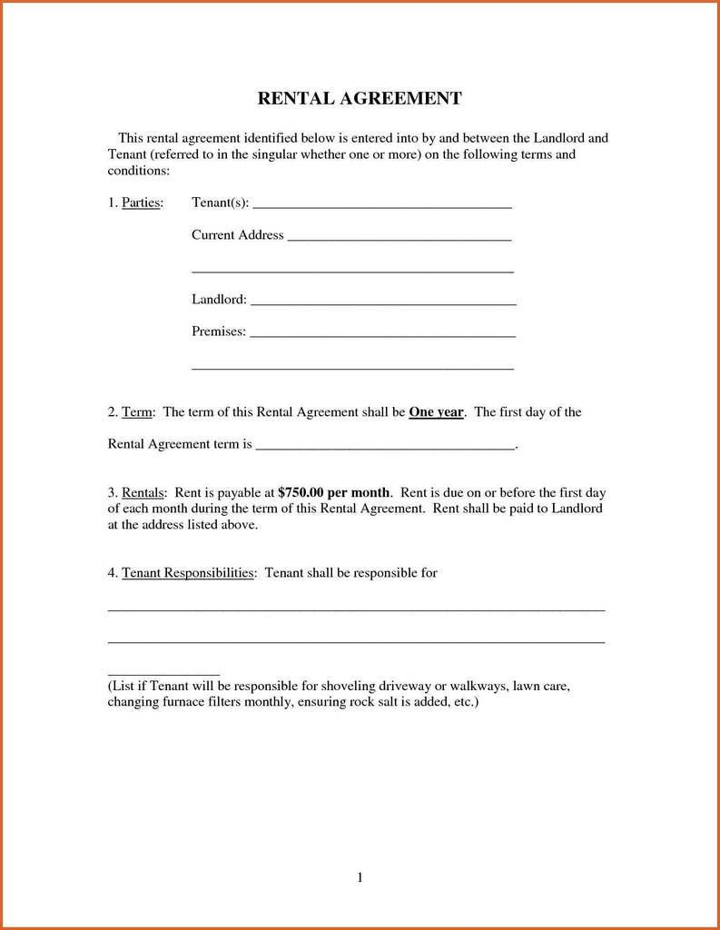 009 Imposing Renter Lease Agreement Form High Definition  Rent Format In Tamil Florida Rental PrintableFull