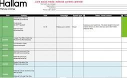 009 Imposing Social Media Editorial Calendar Template Concept  Content Excel 2020 Free Download