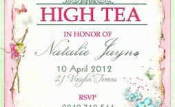 009 Imposing Tea Party Invitation Template Free High Definition  Afternoon Invite Download