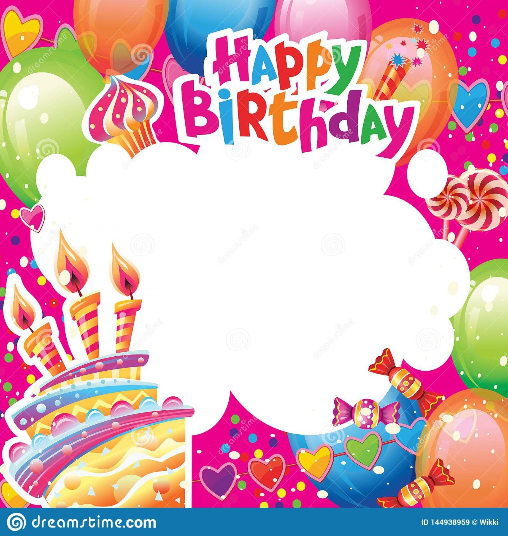 009 Imposing Template For Birthday Card Highest Clarity  Happy Invitation1920