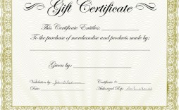009 Imposing Template For Gift Certificate Example  Voucher Word Free Printable In