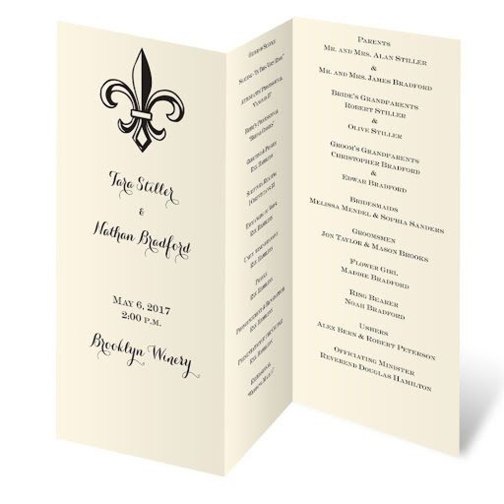 009 Imposing Trifold Wedding Program Template Design  Templates Tri Fold Tri-fold Publisher Free FoldableLarge