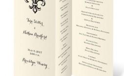 009 Imposing Trifold Wedding Program Template Design  Templates Tri Fold Tri-fold Publisher Free Foldable