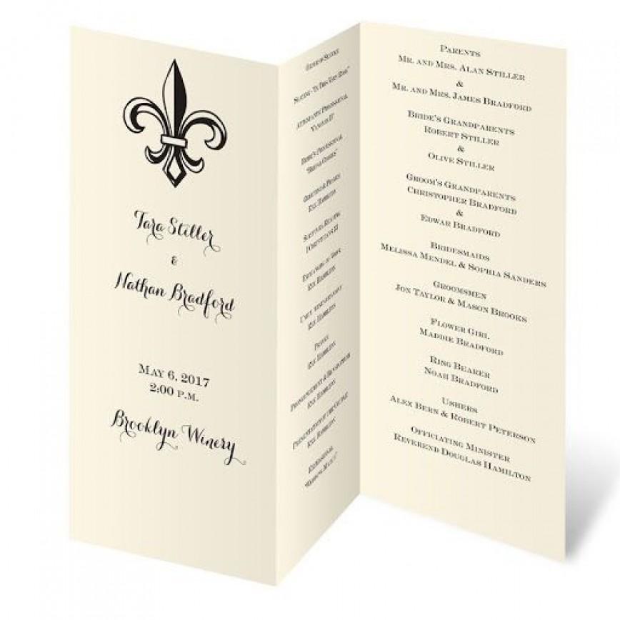 009 Imposing Trifold Wedding Program Template Design  Templates Tri Fold Free For Microsoft Word