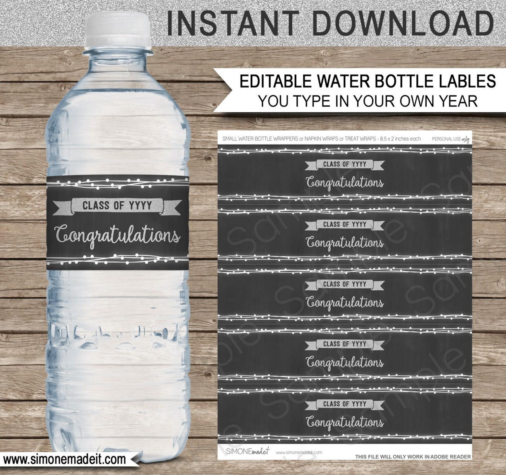 009 Imposing Water Bottle Label Template Free Inspiration  Word Superhero Photoshop1920