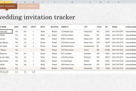 009 Imposing Wedding Guest List Excel Spreadsheet Template High Definition