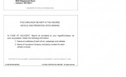 009 Impressive Auto Insurance Card Template Pdf Photo  Car Fake Geico Filler