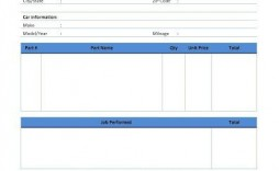 009 Impressive Automotive Repair Invoice Template Free Design  Auto Excel Pdf