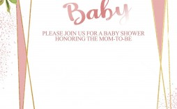 009 Impressive Baby Shower Invitation Template Word Idea  Office Wording Sample Work Download