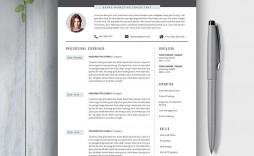 009 Impressive Best Professional Resume Template Photo  Reddit 2020 Download