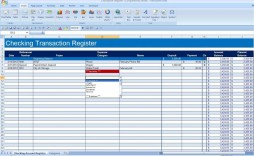 009 Impressive Checkbook Register Template Excel 2013 High Resolution
