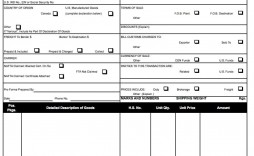 009 Impressive Commercial Invoice Template Excel Example  Free Download