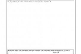 009 Impressive Construction Bid Template Free Excel Concept