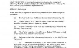 009 Impressive Contractual Joint Venture Agreement Template Uk Inspiration