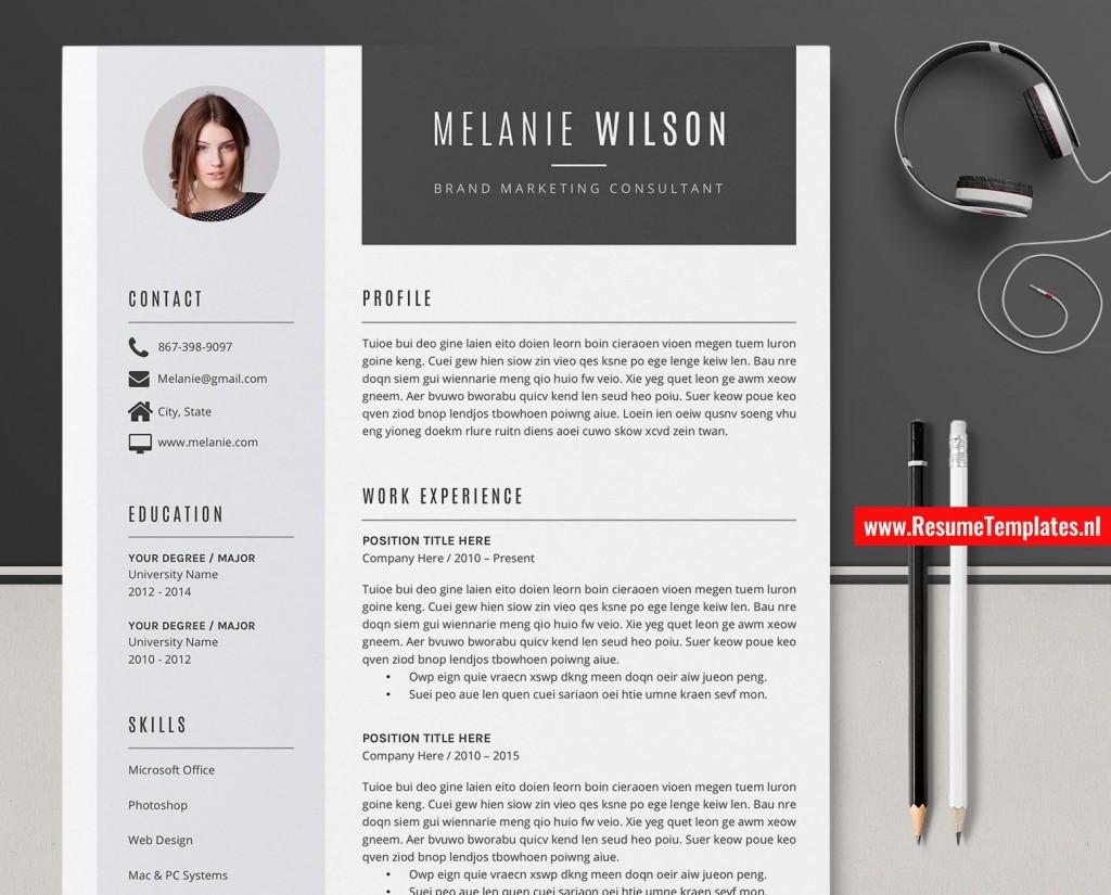 009 Impressive Creative Resume Template Word Inspiration  Professional Free Download Example EditableLarge