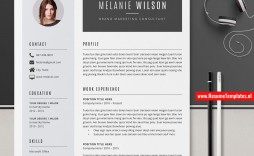 009 Impressive Creative Resume Template Word Inspiration  Professional Free Download Example Editable
