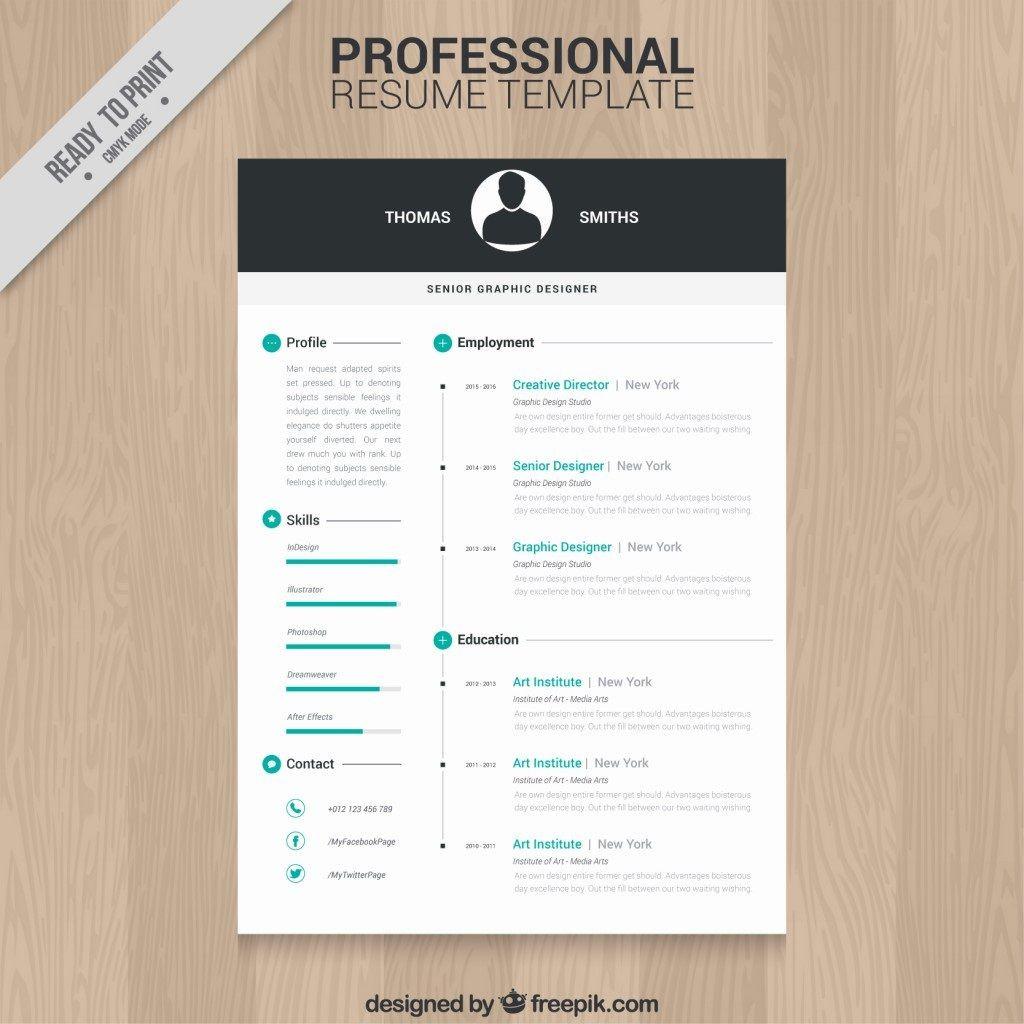 009 Impressive Creative Resume Template Freepik Idea Large