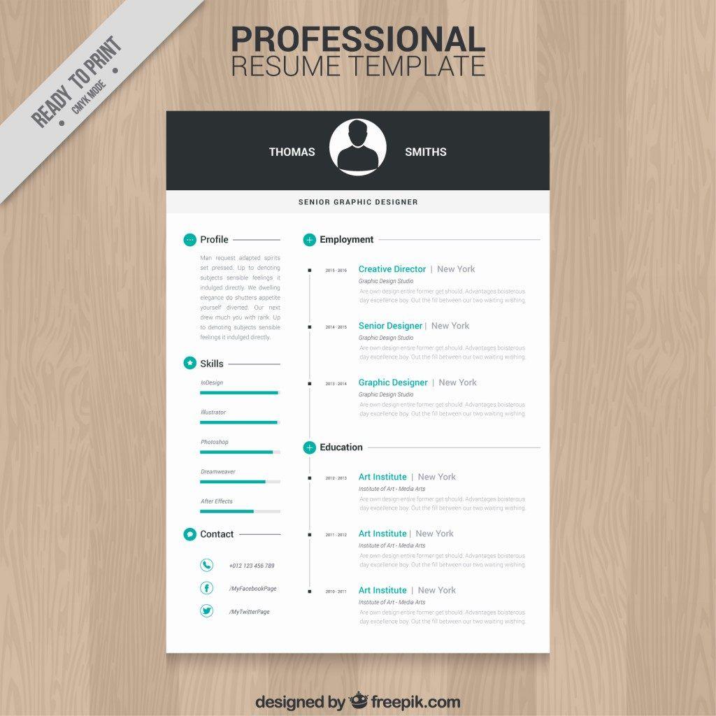 009 Impressive Creative Resume Template Freepik Idea Full