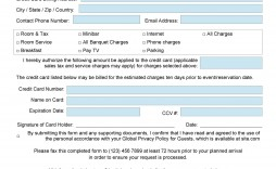 009 Impressive Credit Card Usage Request Form Template Example
