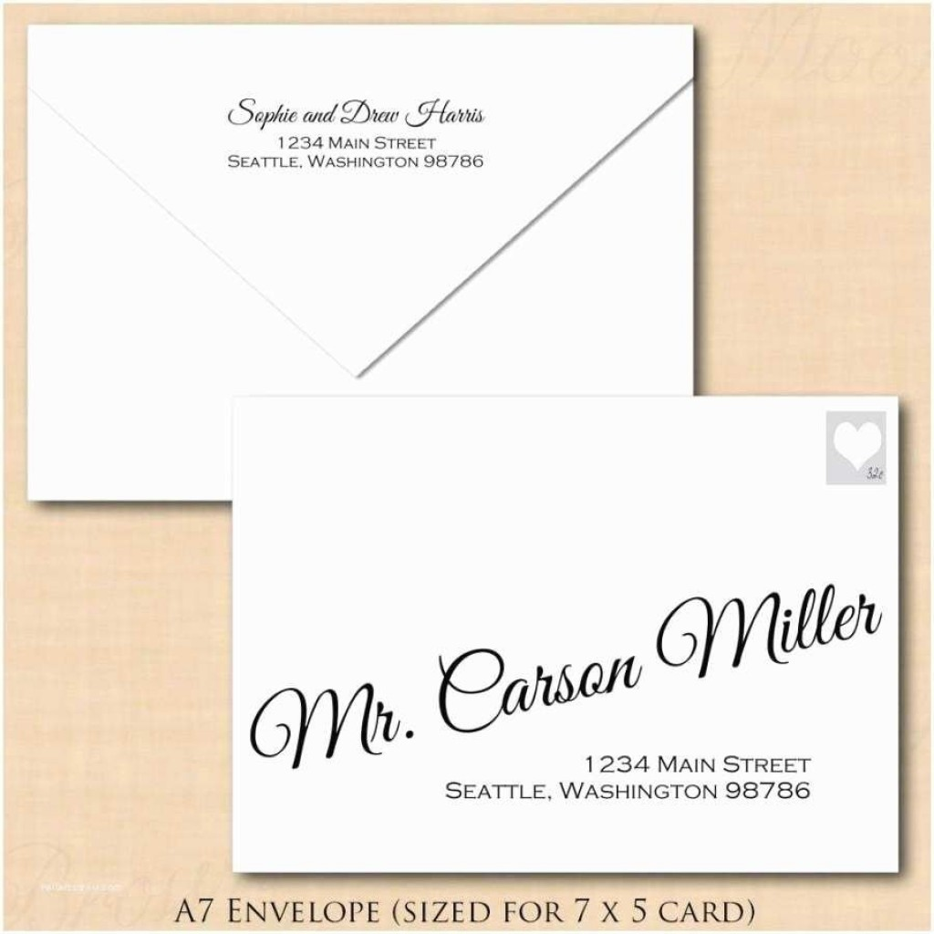 009 Impressive Envelope Template For Word Design  Avery A7 5x7 MicrosoftLarge