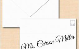 009 Impressive Envelope Template For Word Design  Avery A7 5x7 Microsoft