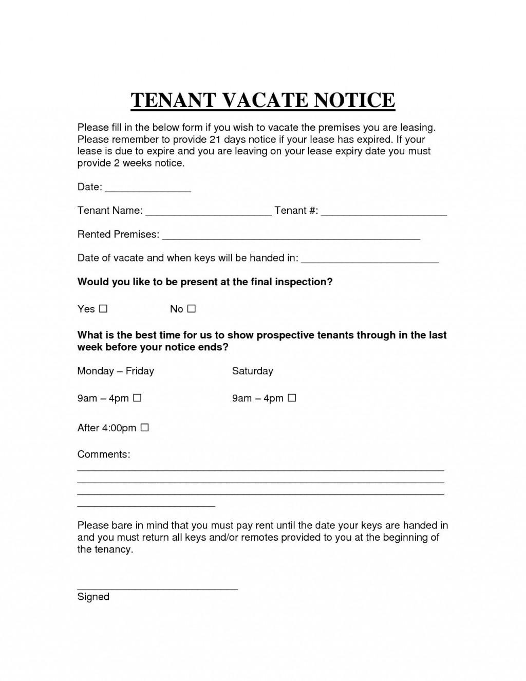 009 Impressive Eviction Notice Template Free Sample  30 Day Uk Word DocumentLarge