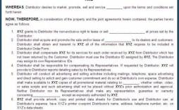009 Impressive Exclusive Distribution Agreement Template Australia High Resolution