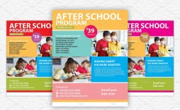 009 Impressive Free After School Program Flyer Template Example