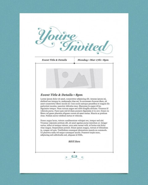 009 Impressive Free Busines Invitation Template For Word Highest Clarity 480