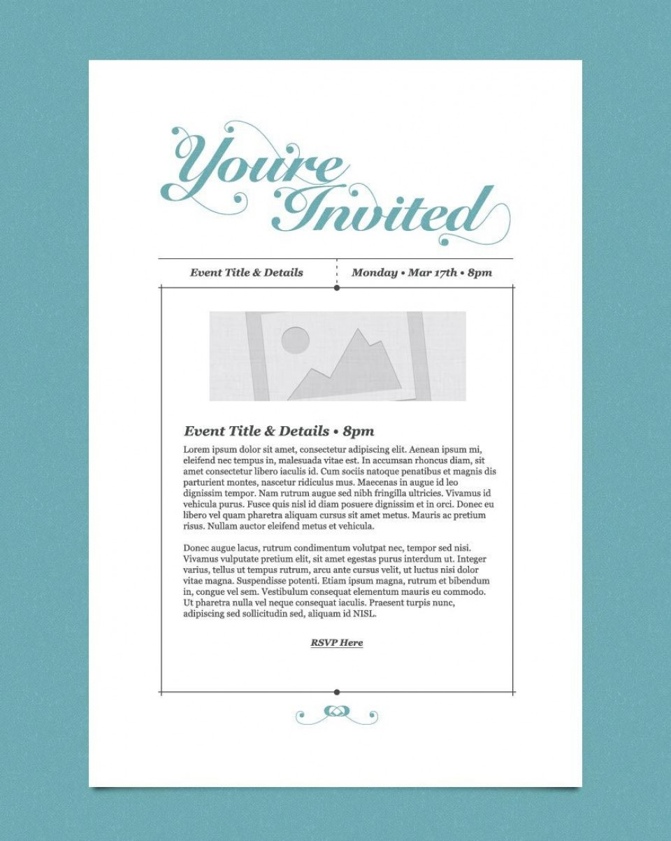 009 Impressive Free Busines Invitation Template For Word Highest Clarity 960